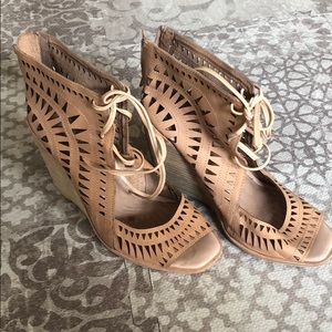 Jeffrey Campbell lace up wedges